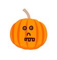 funny cartoon pumpkin with a skull face vector image vector image
