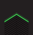 green grey arrow pattern with black blank space vector image vector image