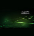 green technology background futuristic hexagon vector image