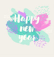 happy new year banner hand drawn vector image vector image