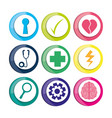 healthy icons to care mentality human vector image vector image