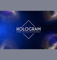 hologram abstract background with motion lights vector image vector image