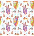 Indian dancer girl seamless pattern vector image