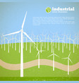innovatiive energy system template vector image