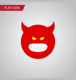 isolated angry flat icon pouting element vector image vector image