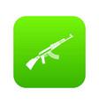 kalashnikov machine icon digital green vector image