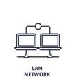 lan network line icon concept lan network vector image vector image