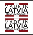made in latvia icon premium quality sticker vector image vector image