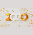 merry christmas and happy new year 2020 banner vector image vector image