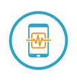 mobile medical supervision icon flat design vector image