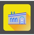 Modern house icon flat style vector image vector image