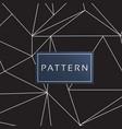 modern triangle pattern black background im vector image vector image