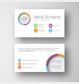 modern white business card template with flat vector image vector image