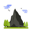 mountain landscape flat design vector image