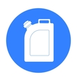 Oil jerrycan icon in black style isolated on white vector image