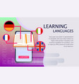 online learning of foreign languages vector image vector image