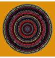 Ornamental Round Knitted Pattern vector image vector image