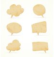 paper speech bubbles set vector image
