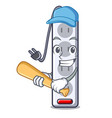 playing baseball power strip in the character vector image vector image