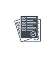 questionnaire related glyph icon vector image vector image