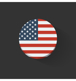 round icon with flag usa vector image