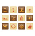 sea marine and holiday icons vector image vector image