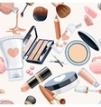 Seamless pattern from cosmetics objects creameye vector image