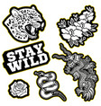 set patches vector image vector image