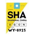 shanghai airport luggage tag
