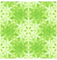 shiny green snowflakes seamless pattern vector image