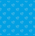 skiing pattern seamless blue vector image