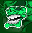 skull mascot esport logo team gaming vector image vector image