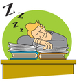 Sleeping on the job vector image vector image