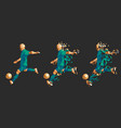 soccer football player low-poly vector image vector image