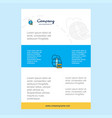 template layout for globe comany profile annual vector image vector image