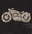 Text Filled Vintage Motorcycle vector image