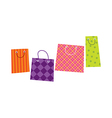 The shopping bags are placed vector image vector image