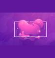 trendy fluid liquid gradient design elements vector image