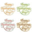 Vintage Happy Thanksgivings day EPS 10 vector image