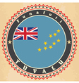 Vintage label cards of Tuvalu flag vector image vector image