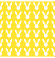 White Rabbit Yellow Background vector image vector image