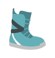 Winter snow boot icon flat style
