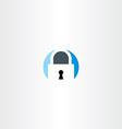 circle flat lock logo symbol vector image