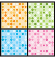 Circles seamless pattern vector image