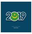 2019 mauritania typography happy new year vector image vector image
