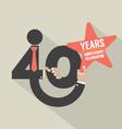 40 Years Anniversary Typography Design Illu vector image vector image