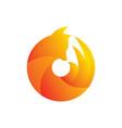 a fox animal logo template vector image vector image