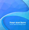 Abstract blue polygonal background vector image