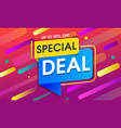 abstract special deal background design vector image vector image
