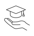 accessible or free education linear icon vector image vector image